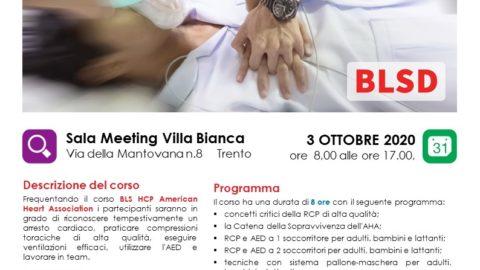 Locandina corso BLS Healthcare Provider